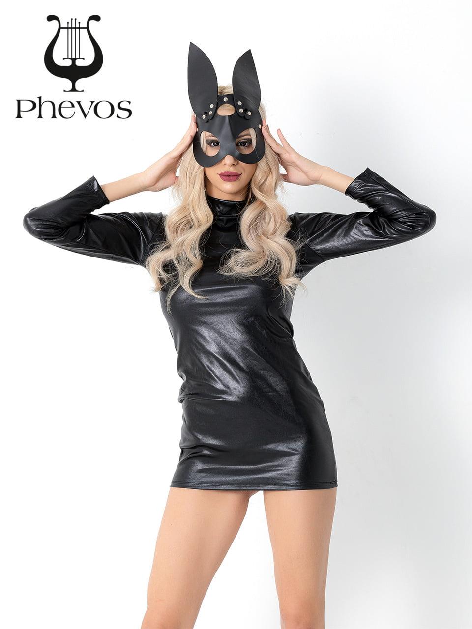 Phevos Deri Kedi Kadın Fantezi Kostüm